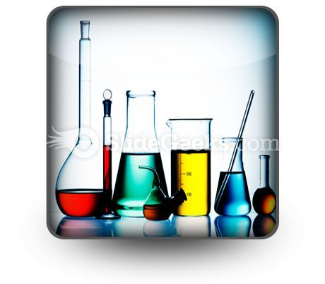 Assorted Laboratory Glassware PowerPoint Icon S  Presentation Themes and Graphics Slide01