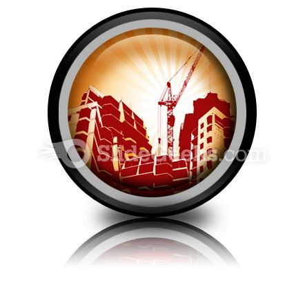 Building Construction PowerPoint Icon Cc  Presentation Themes and Graphics Slide01