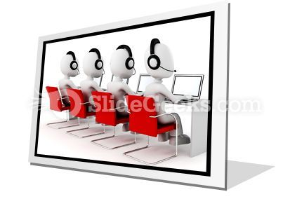 Call Center PowerPoint Icon F  Presentation Themes and Graphics Slide01