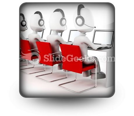 Call Center PowerPoint Icon S  Presentation Themes and Graphics Slide01
