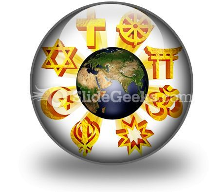 Earth Religious Symbols PowerPoint Icon C  Presentation Themes and Graphics Slide01