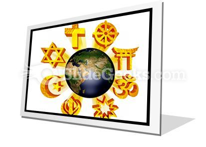 Earth Religious Symbols PowerPoint Icon F  Presentation Themes and Graphics Slide01