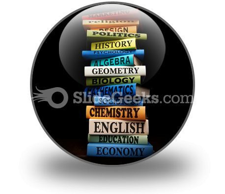 Education Study Books PowerPoint Icon C  Presentation Themes and Graphics Slide01