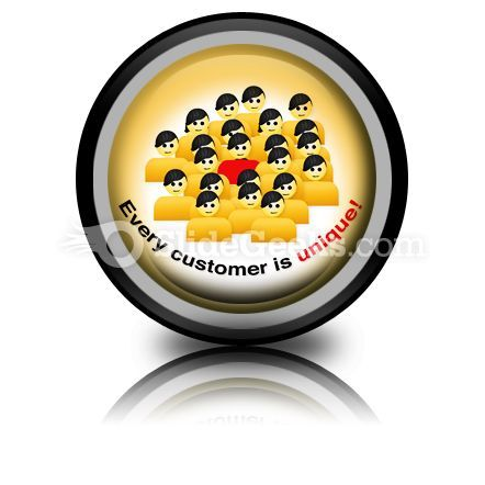 Every Customer Is Unique PowerPoint Icon Cc  Presentation Themes and Graphics Slide01