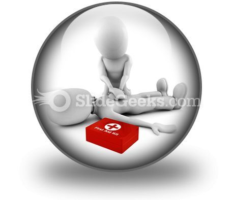 First Aid PowerPoint Icon C  Presentation Themes and Graphics Slide01