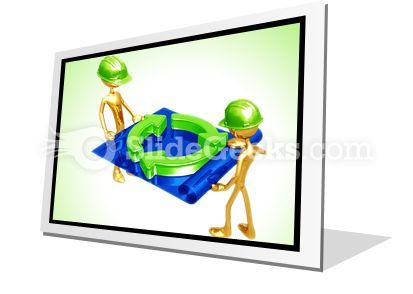 Green Construction Building PowerPoint Icon F  Presentation Themes and Graphics Slide01