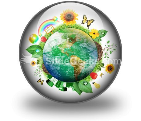 Green Nature Earth PowerPoint Icon C  Presentation Themes and Graphics Slide01