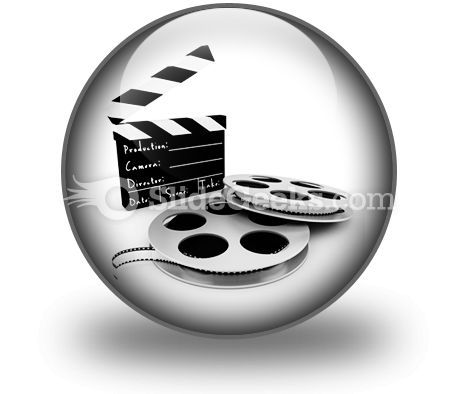 Movie Objects Clipper PowerPoint Icon C  Presentation Themes and Graphics Slide01
