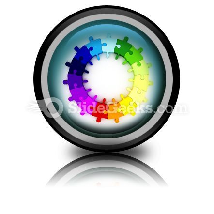 Puzzle Chart Wheel PowerPoint Icon Cc  Presentation Themes and Graphics Slide01