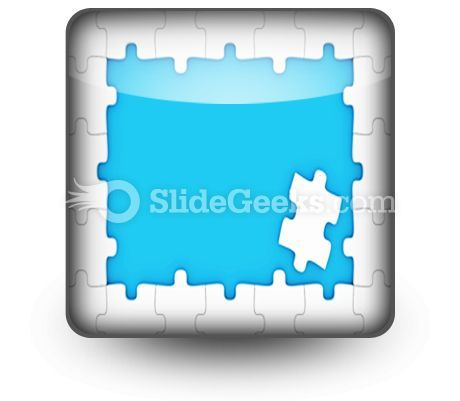 Puzzle Pieces Frame PowerPoint Icon S  Presentation Themes and Graphics Slide01