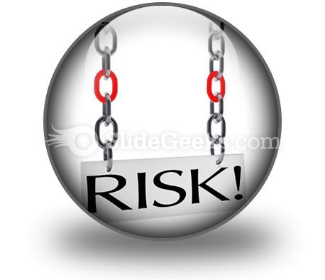 Risk Hanging PowerPoint Icon C  Presentation Themes and Graphics Slide01