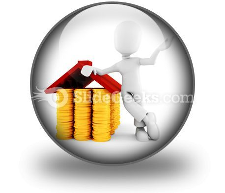Saving Money For Home PowerPoint Icon C  Presentation Themes and Graphics Slide01