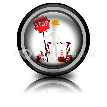 Worker Stop PowerPoint Icon Cc  Presentation Themes and Graphics Slide01