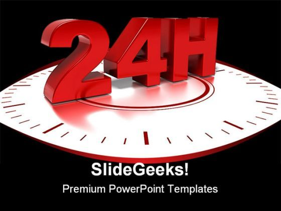 24hours Shipping Business PowerPoint Backgrounds And Templates 1210  Presentation Themes and Graphics Slide01