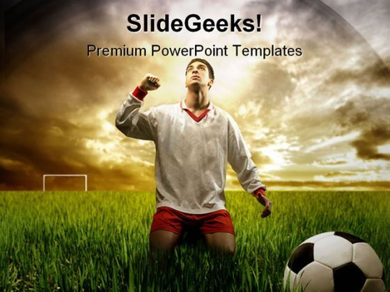A Soccer Player Sports PowerPoint Templates And PowerPoint Backgrounds 0211  Presentation Themes and Graphics Slide01