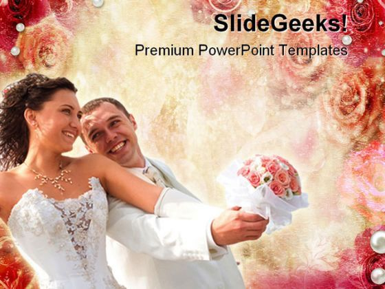 Abstract Roses Wedding PowerPoint Templates And PowerPoint Backgrounds 0411  Presentation Themes and Graphics Slide01