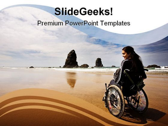 Adventure People Beach PowerPoint Background And Template 1210  Presentation Themes and Graphics Slide01