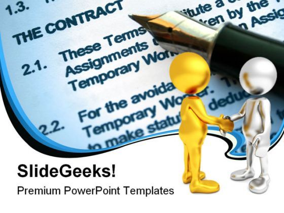 Agreement Business PowerPoint Backgrounds And Templates 1210  Presentation Themes and Graphics Slide01