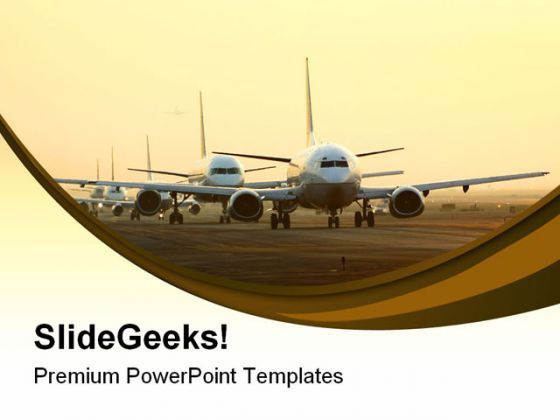 Airport Rush Travel PowerPoint Templates And PowerPoint Backgrounds 0511  Presentation Themes and Graphics Slide01