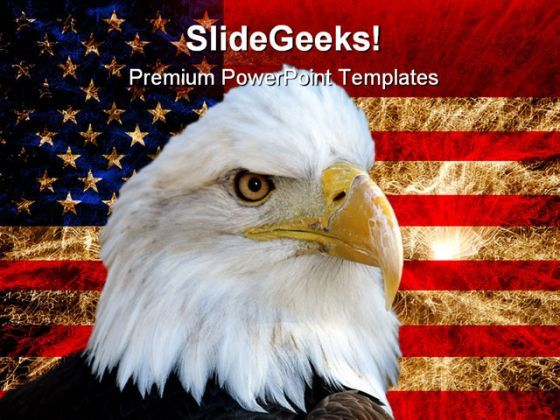 America Flag And Eagle Americana PowerPoint Backgrounds And Templates 1210  Presentation Themes and Graphics Slide01