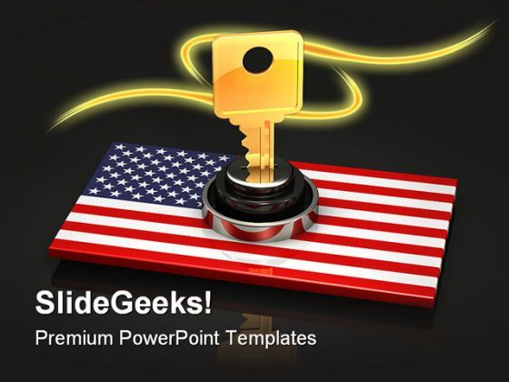 America National Key Security PowerPoint Backgrounds And Templates 1210  Presentation Themes and Graphics Slide01