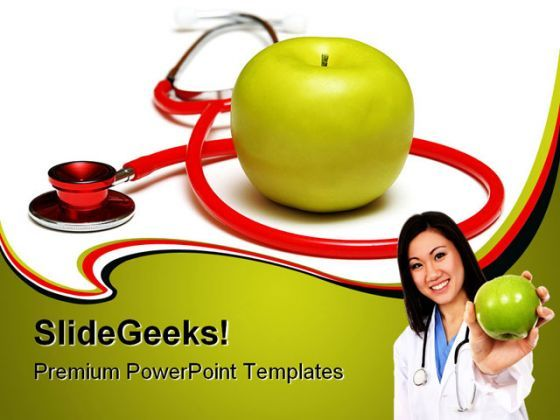 An Apple A Day Health PowerPoint Backgrounds And Templates 1210  Presentation Themes and Graphics Slide01