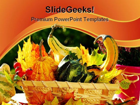 Autumn Garden Still Life Food PowerPoint Templates And PowerPoint Backgrounds 0211  Presentation Themes and Graphics Slide01