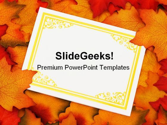 Autumn Leaves Card Nature PowerPoint Backgrounds And Templates 0111  Presentation Themes and Graphics Slide01