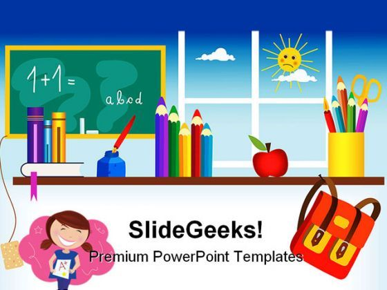 Back To School01 Education PowerPoint Backgrounds And Templates 1210  Presentation Themes and Graphics Slide01