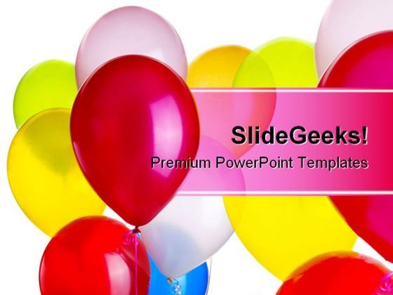 Balloons Entertainment PowerPoint Background And Template
