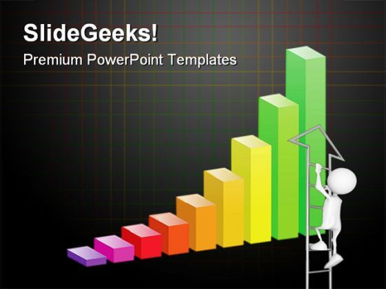 Bar Graph Business PowerPoint Backgrounds And Templates 0111  Presentation Themes and Graphics Slide01