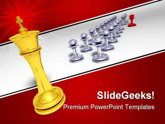 Big Golden King Game PowerPoint Templates And PowerPoint Backgrounds 0211  Presentation Themes and Graphics Slide01
