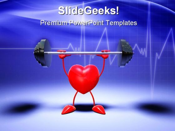 Body Building Heart Health PowerPoint Templates And PowerPoint Backgrounds 0511  Presentation Themes and Graphics Slide01