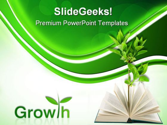 Book And Plant Business PowerPoint Templates And PowerPoint Backgrounds 0511  Presentation Themes and Graphics Slide01