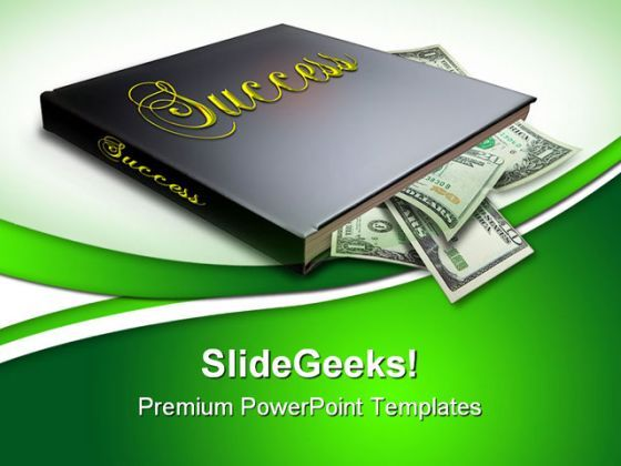Book Of Success Money PowerPoint Templates And PowerPoint Backgrounds 0511  Presentation Themes and Graphics Slide01