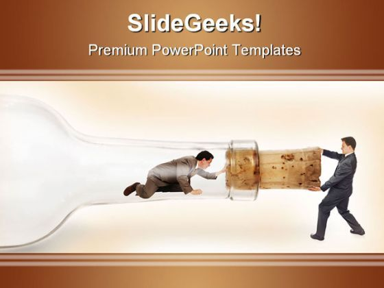 Bottleneck Pulling Business PowerPoint Background And Template 1210  Presentation Themes and Graphics Slide01