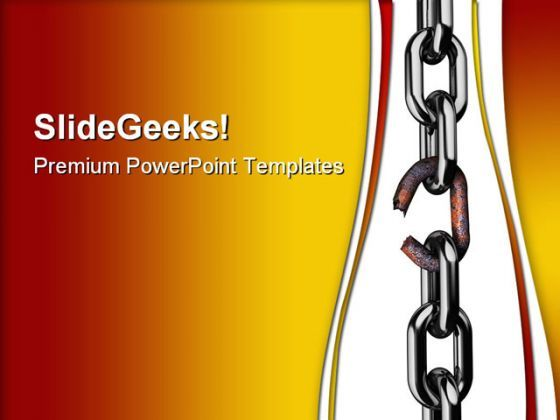 Broken Rusty Chain Business PowerPoint Templates And PowerPoint Backgrounds 0511  Presentation Themes and Graphics Slide01