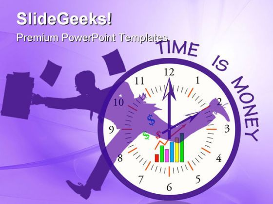 Business Clock Money PowerPoint Templates And PowerPoint Backgrounds 0211  Presentation Themes and Graphics Slide01