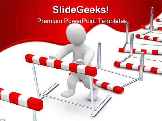 Business Hurdles Finance PowerPoint Templates And PowerPoint Backgrounds 0611  Presentation Themes and Graphics Slide01
