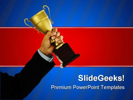 Business Winner Success PowerPoint Templates And PowerPoint Backgrounds 0411  Presentation Themes and Graphics Slide01