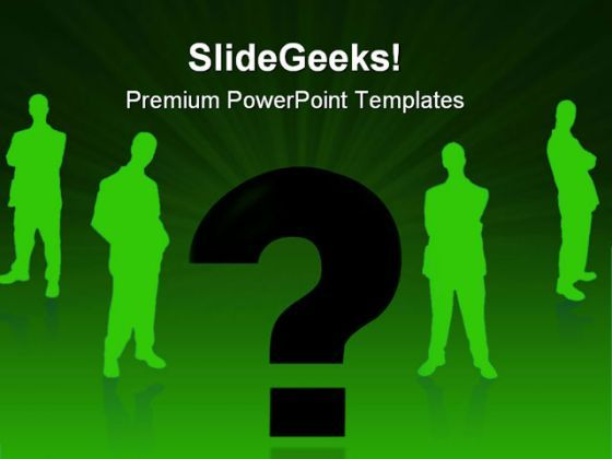 Businessman And Question Metaphor PowerPoint Templates And PowerPoint Backgrounds 0611  Presentation Themes and Graphics Slide01