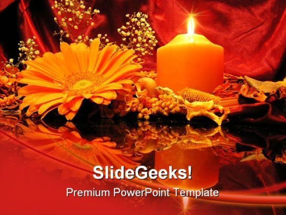 Candle Reflection Religion PowerPoint Backgrounds And Templates 1210  Presentation Themes and Graphics Slide01
