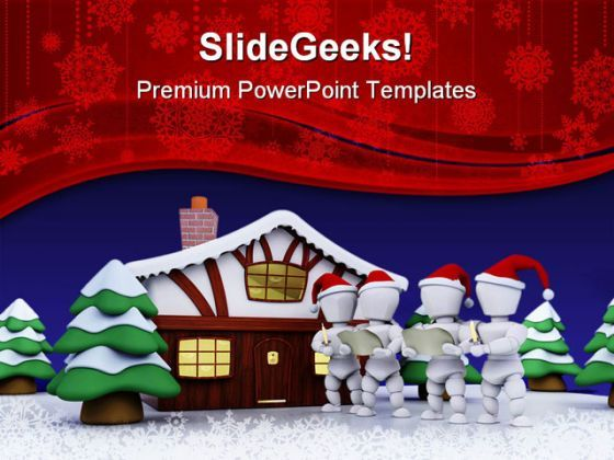 Carol Singers Christmas PowerPoint Templates And PowerPoint Backgrounds 0511  Presentation Themes and Graphics Slide01