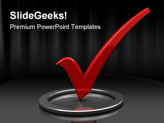 Check Mark Symbol PowerPoint Backgrounds And Templates 0111  Presentation Themes and Graphics Slide01