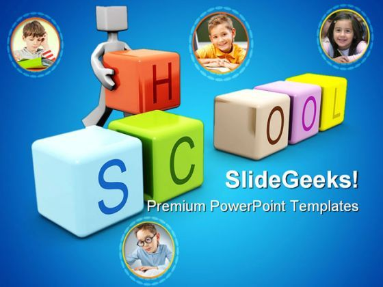 Children School Education PowerPoint Templates And PowerPoint Backgrounds 0411  Presentation Themes and Graphics Slide01