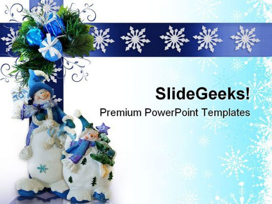 Christmas Snowman Festival PowerPoint Templates And PowerPoint Backgrounds 0711  Presentation Themes and Graphics Slide01