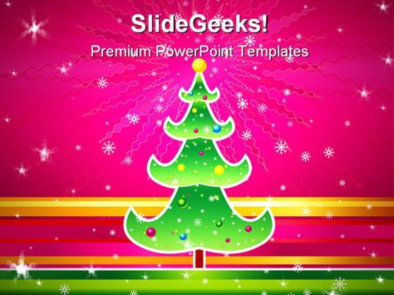 Christmas Tree Abstract PowerPoint Background And Template 1210  Presentation Themes and Graphics Slide01