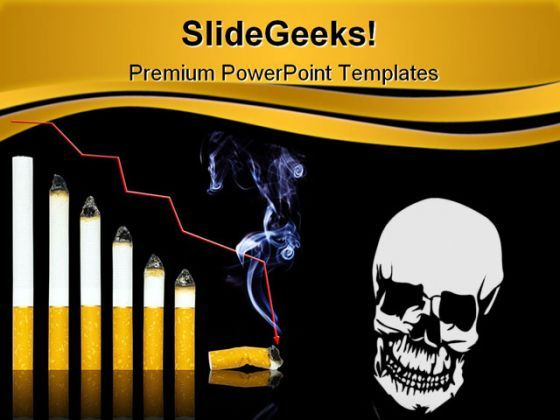 Cigarette Graph Health PowerPoint Templates And PowerPoint Backgrounds 0211  Presentation Themes and Graphics Slide01