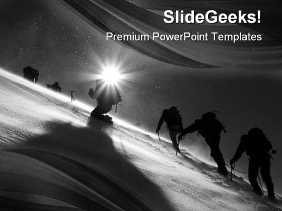 Climbers Climbing Business PowerPoint Templates And PowerPoint Backgrounds 0511  Presentation Themes and Graphics Slide01