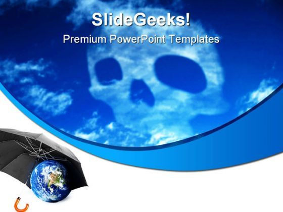 Co2 Skull Earth PowerPoint Templates And PowerPoint Backgrounds 0311  Presentation Themes and Graphics Slide01